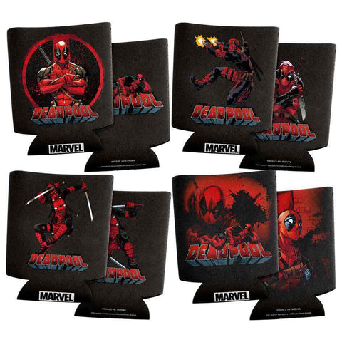 Deadpool Can Coolers Set of 4
