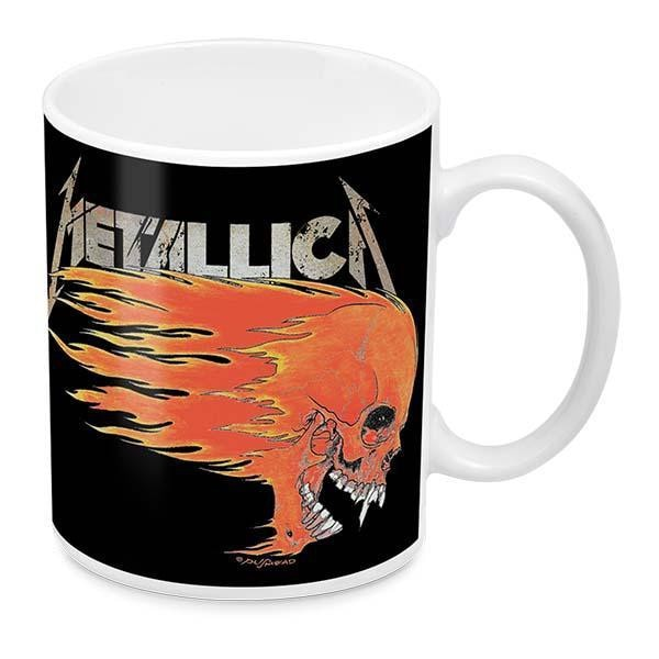 Metallica Mug Flaming Skull