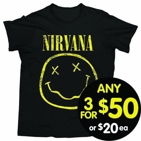 Nirvana Tshirt Smiley