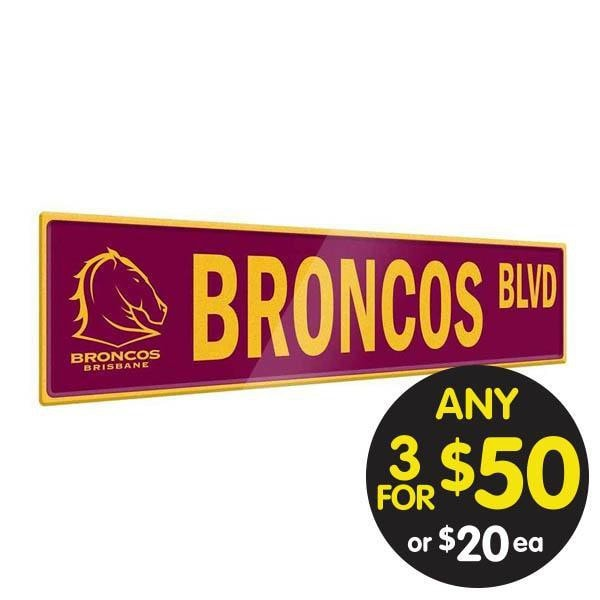NRL TIN SIGN STREET BRONCOS