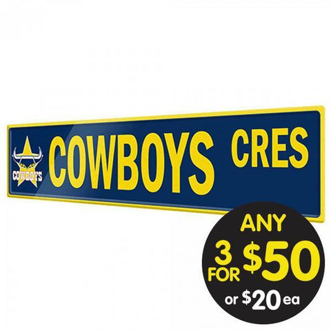 NRL TIN SIGN STREET COWBOYS