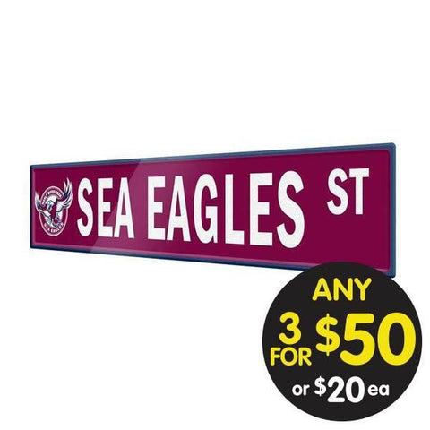 NRL TIN SIGN STREET MANLY