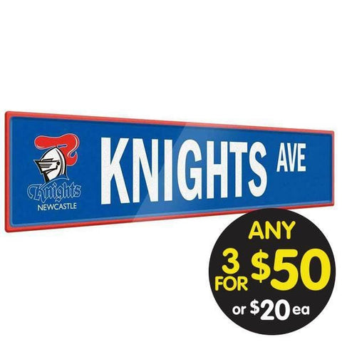 NRL TIN SIGN STREET KNIGHTS