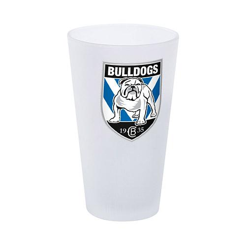 NRL Glass Frosted Bulldogs