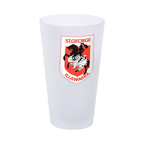 NRL Glass Frosted Dragons