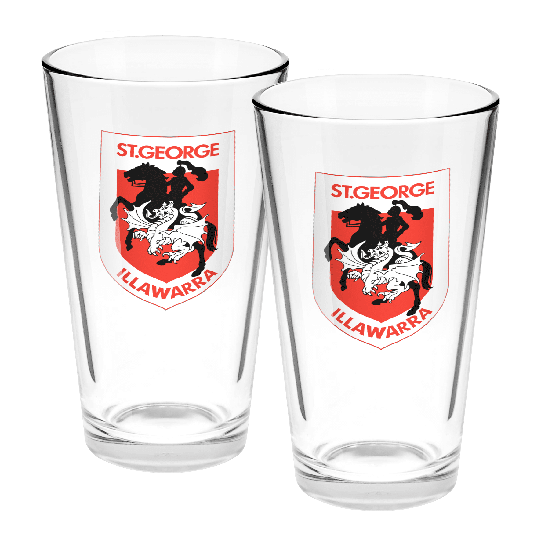 NRL Conical Glasses Set Of 2 Dragons