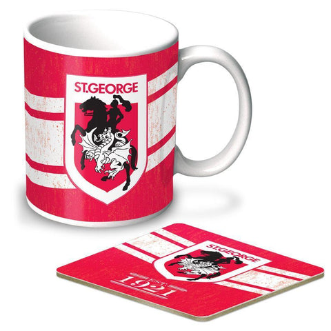 NRL Coffee Mug And Coaster Set Dragons