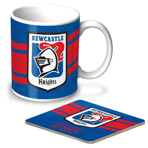 NRL Coffee Mug And Coaster Set Knights