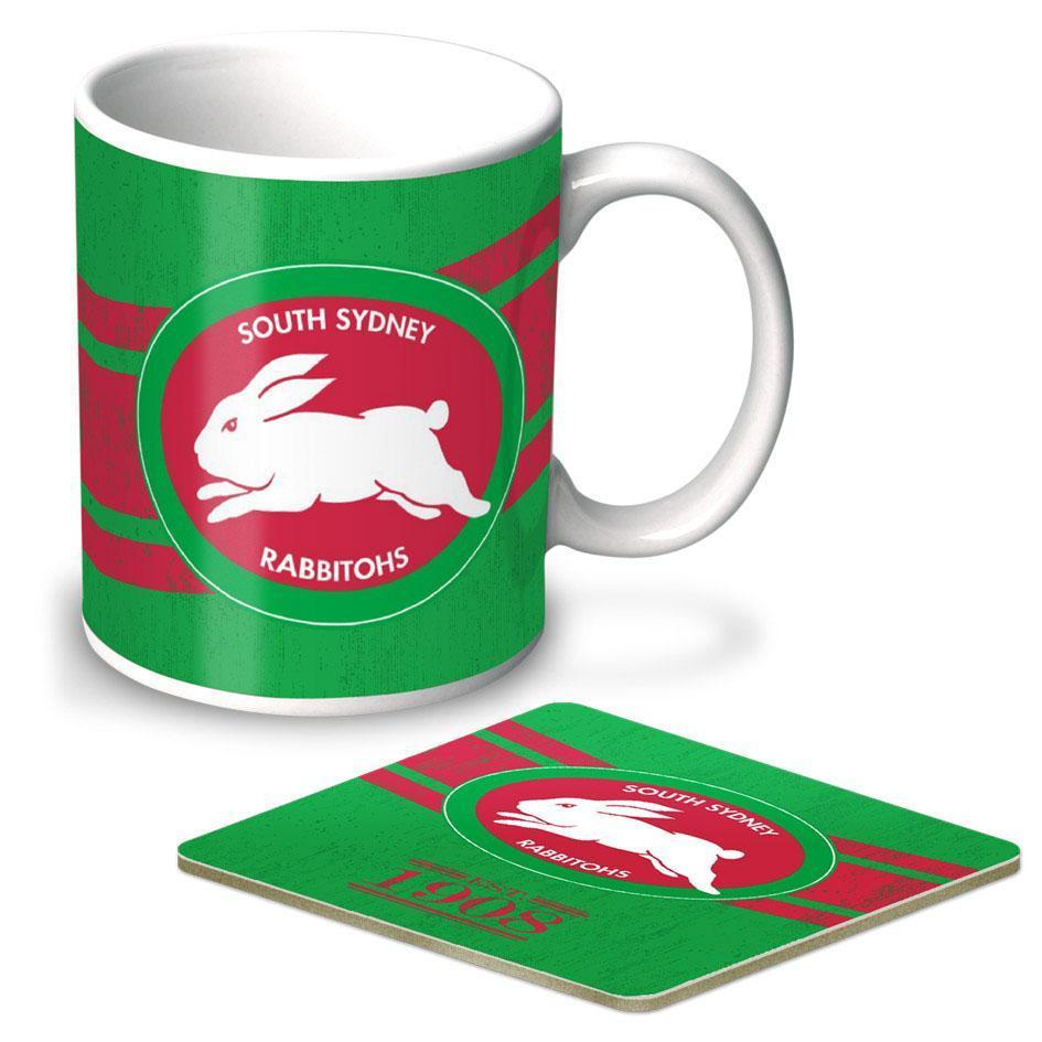 NRL Coffee Mug And Coaster Set Rabbitohs