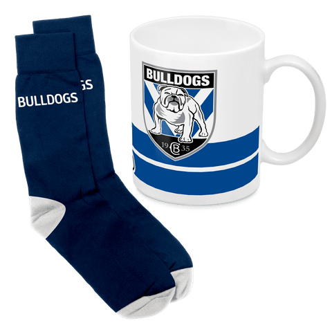 NRL Mug & Sock Gift Pack Bulldogs