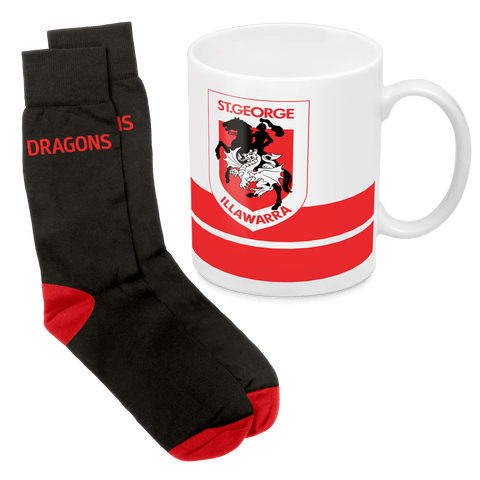 NRL Mug & Sock Gift Pack Dragons