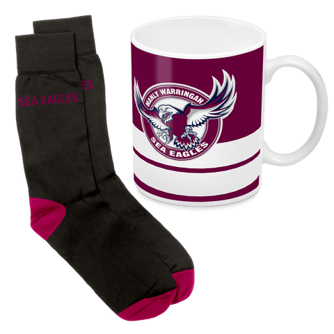 NRL Mug & Sock Gift Pack Manly