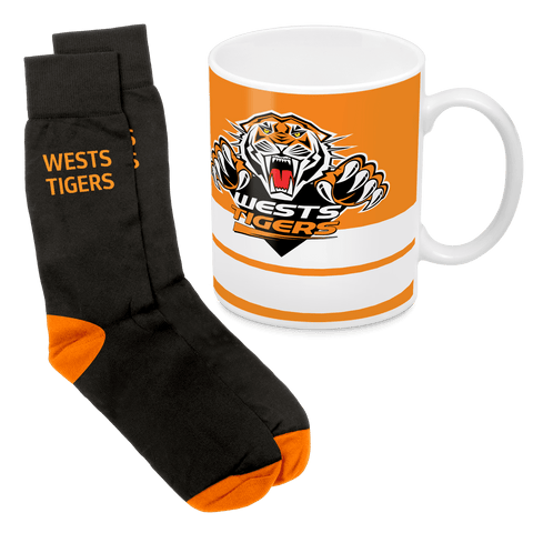 NRL Mug & Sock Gift Pack Tigers