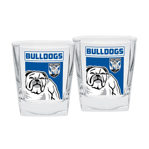 NRL Spirit Glasses Set Of 2 Bulldogs