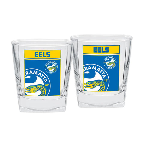 NRL Spirit Glasses Set Of 2 Eels