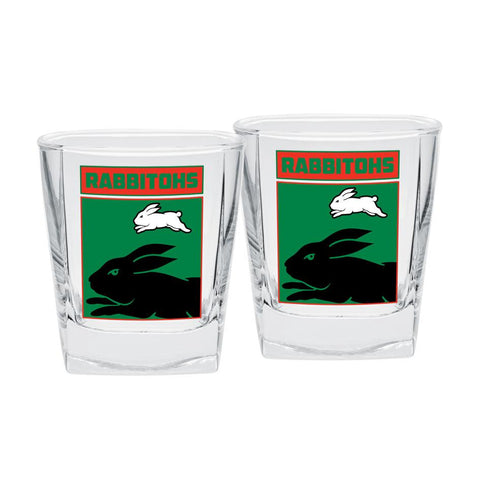 NRL Spirit Glasses Set Of 2 Rabbitohs