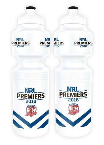 NRL Sydney Roosters Premier 2018 Team Sports Bottle