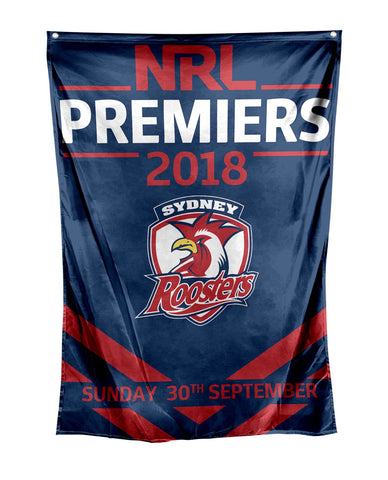 NRL Sydney Roosters Premier 2018 Wall Flag