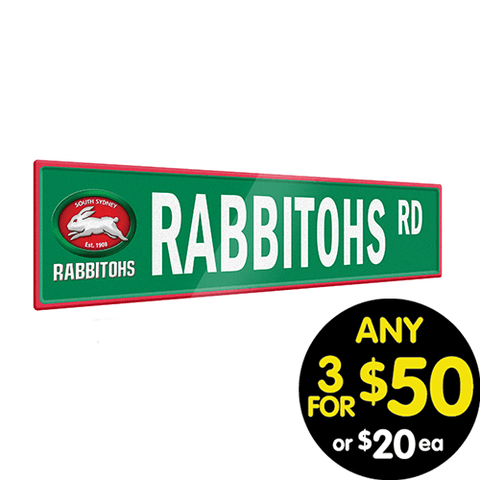 NRL TIN SIGN STREET RABBITOHS