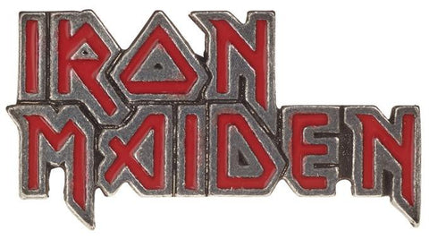 Alchemy Badge Iron Maiden: Enamelled Logo