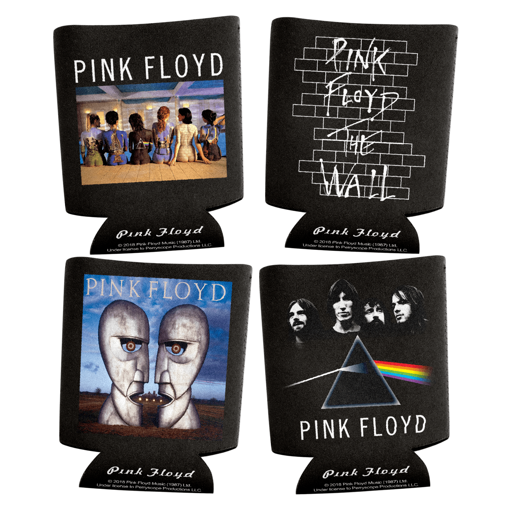 Pink Floyd Can Coolers Set Of 4