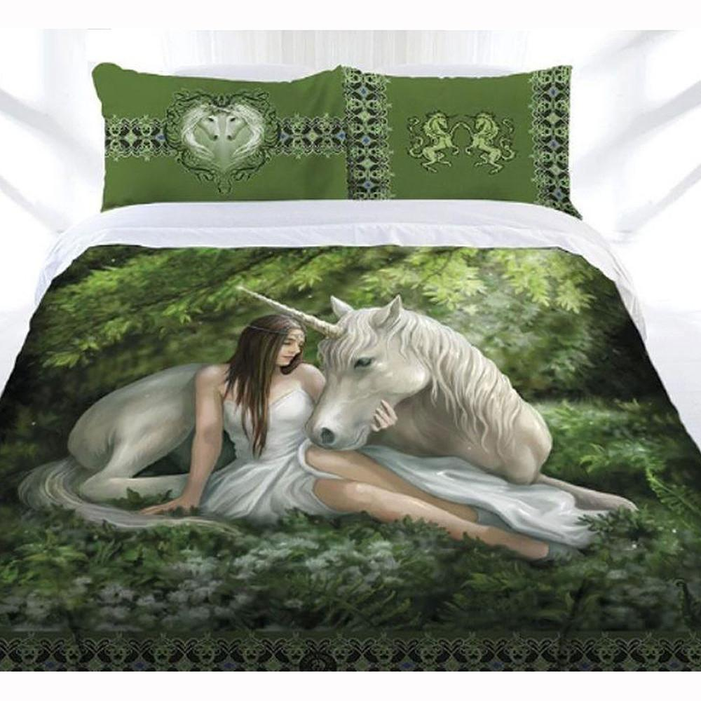 Anne Stokes Pure Heart Queen Quilt Cover