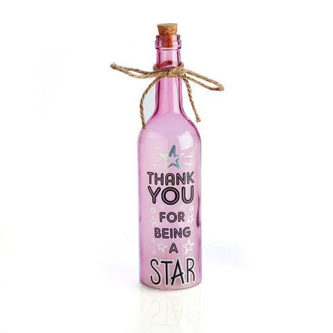 Wishlight Bottle Thank You For Being A Star