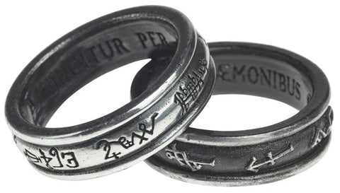 Alchemy Ring N Demon Black & Angel White