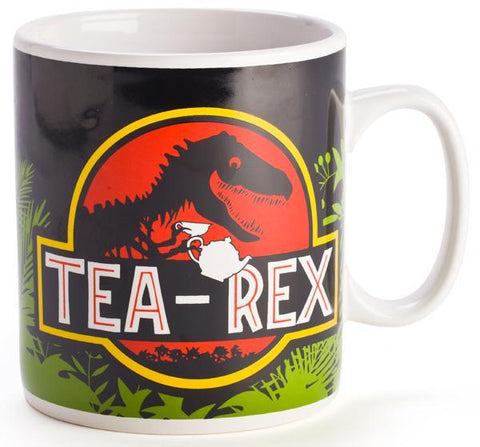 Holds 900ml of tea or coffee, enough to rejuvenate the king of the dinosaurs 110(L) x 110(W) x 125(H) mm