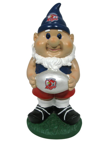 NRL Solar Gnome with Light Up Ball Roosters