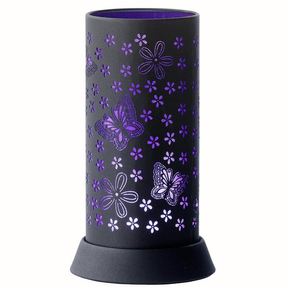 Butterfly Pattern Purple Silhouette Lamp