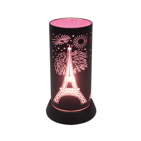 Paris Pattern Pink Lamp