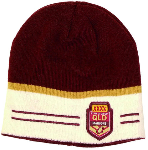 NRL State of Origin 2 Sided Beanie QLD