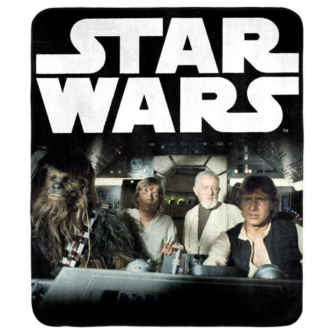 Star Wars Throw Rug - Han Solo, Luke, Chewy & Obi-Wan