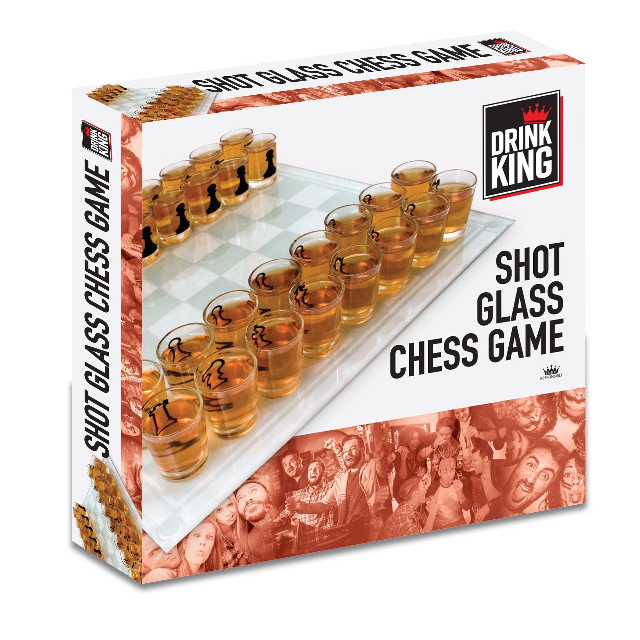Drink King Shot Glass Chess Game