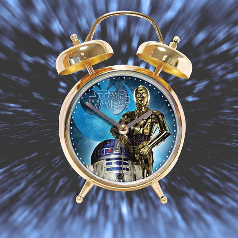 Star Wars Alarm Clock Gold