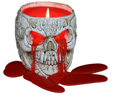 Spiral Weeping Skull Candle