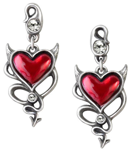 Alchemy Earring Studs Devil Heart