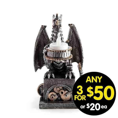 Steampunk LED Tea Light Dragon