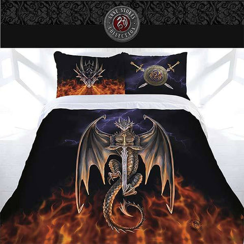 Anne Stokes Quilt Cover Dragon Warrior Queen
