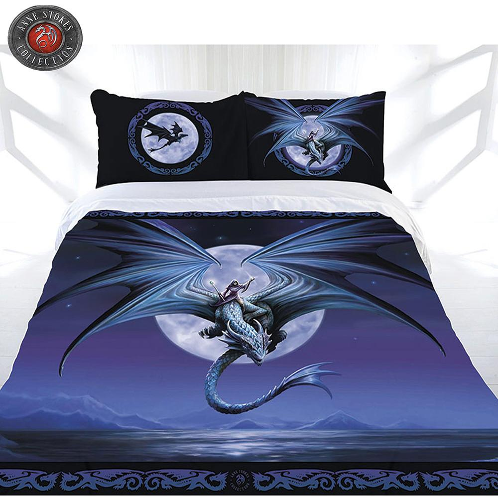 Anne Stokes Moonstone Queen Quilt Cover