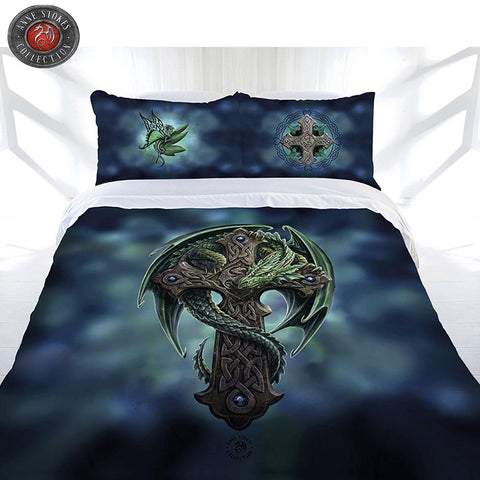 Anne Stokes Woodland Guardian Queen Quilt Cover