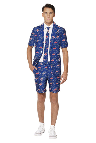 Suitmeister Australian Flag Short Sleeve Suit