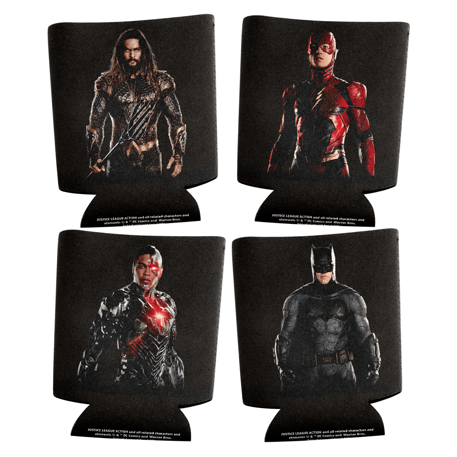 Justice League Can Coolers Zoom Set Of 4
