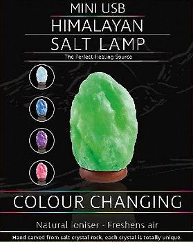Mini USB Himalayan Salt Colour Changing Lamp