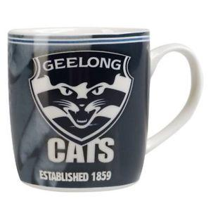 AFL COFFEE MUG BARREL 410ML GEELONG