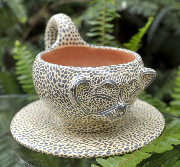 JAGUAR CUP AND SAUCER