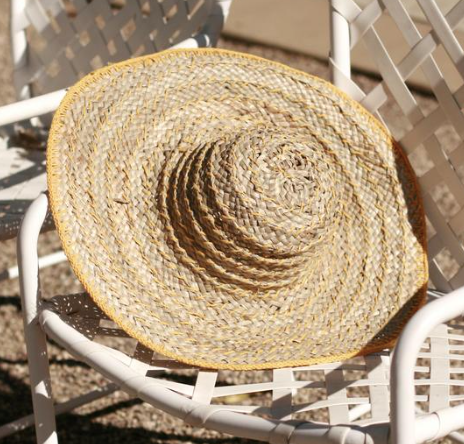 Load image into Gallery viewer, Yellow Balinese Pecatu Wide Round Straw Hat