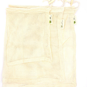 Load image into Gallery viewer, Cotton Mesh Produce Bags- 3 Pack