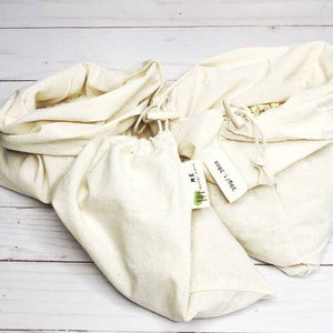 Load image into Gallery viewer, Cotton Muslin Bulk Shopping Bags 3-Pack